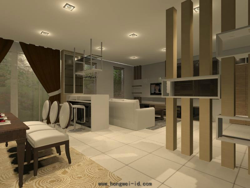 Living hall interior design residential living and for Latest living hall design