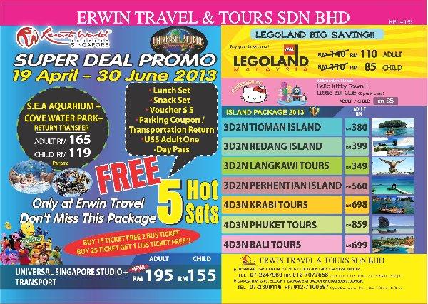 Erwin Travel Tours Seri Kembangan