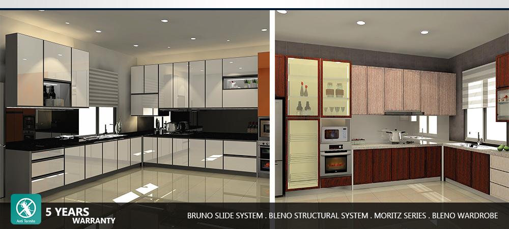 aluminium kitchen cabinet wardrobe supplier johor bahru