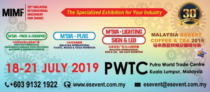 30th Malaysia International Machinery Fair (MIMF 2019)