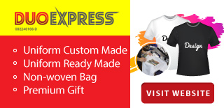 Duo Express is a uniform and t-shirt supplier company. Our main office is located in Petaling Jaya (PJ), Selangor, Malaysia.